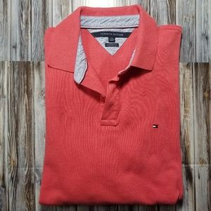 Tommy Hilfiger~Mens Polo~Pinkish Red~XXL